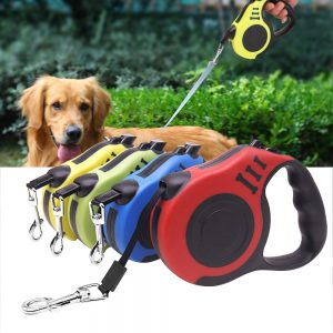 3/5M Durable Dog Leash Automatic Retractable Nylon Cat Lead Extending Puppy Walking Running Lead Roulette For Dogs