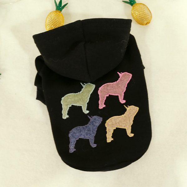Four Coloured Black Hoodie
