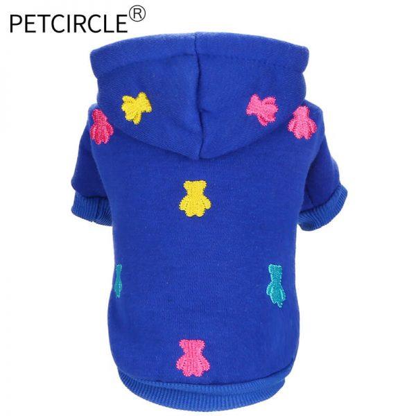 Teddy Pattern Dog Hoodie