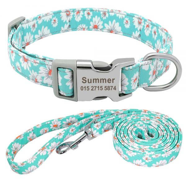 Personalised Pattern Collar and Leash