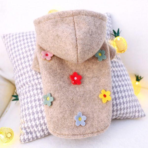 Flowers Woolen Thick Hoodie