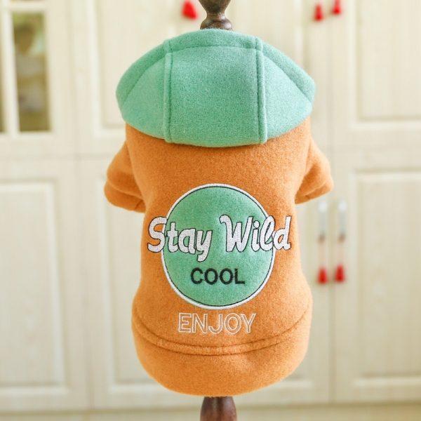 Autumn Hooded Dog Sweatshirt